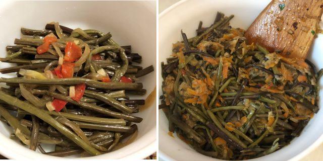 Салат из папоротника по-корейски и по-русски