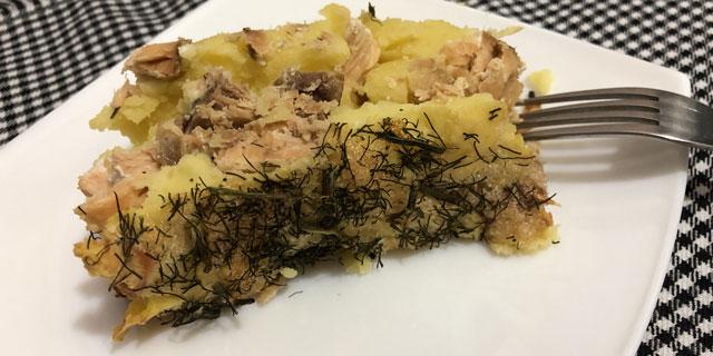 Картофельная запеканка с кетой