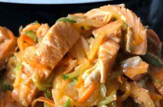 Хе из рыбы и кальмара по корейским мотивам